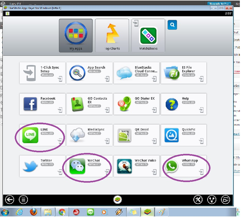 Android Whatsapp, Line, WeChat di PC Komputer
